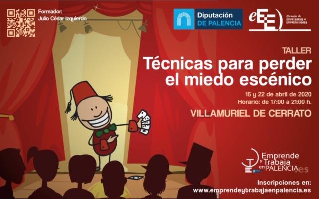 Taller «Técnicas para perder el miedo escénico» en Villamuriel de Cerrato